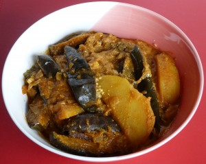 Aubergine curry Chettinad