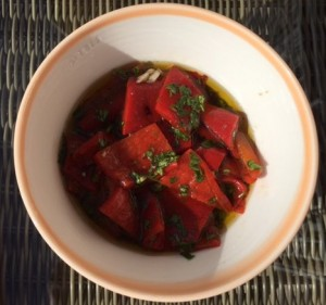 Tapas marinated peppers