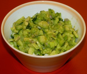 Avocado cucumber salsa